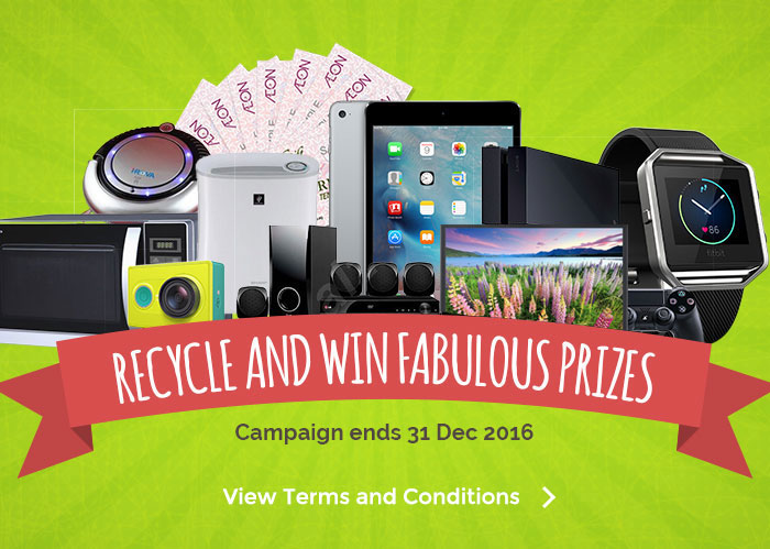 Recycle and Win Lucky Draw Prizes